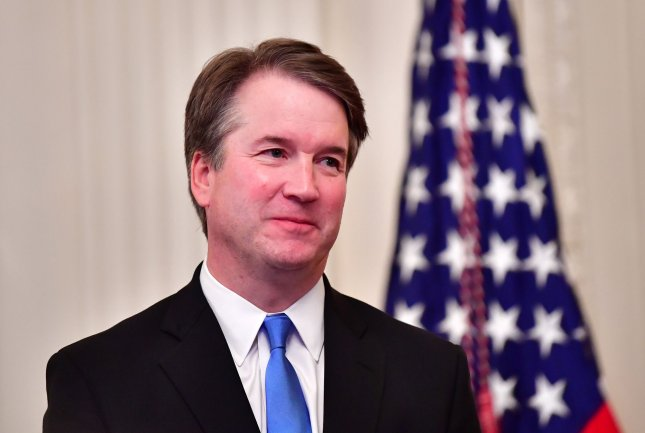 Supreme Court Justice Brett Kavanaugh gave his first public speech Thursday night before the conservative Federalist Society since being confirmed last year. Photo by Kevin Dietsch/UPI