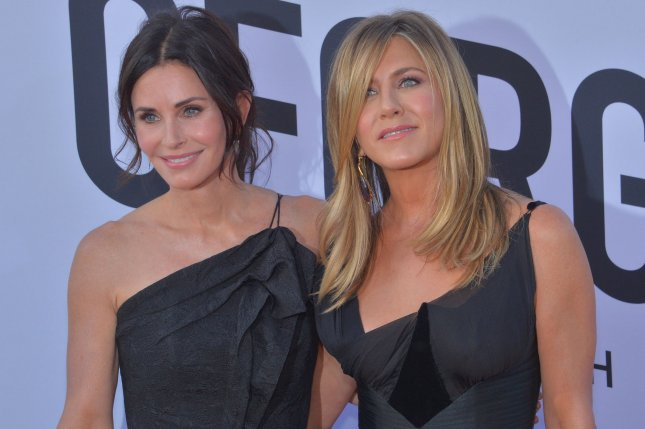 Props and costumes from Courteney Cox and Jennifer Aniston's iconic sitcom Friends are being auctioned off for charity. File Photo by Jim Ruymen/UPI