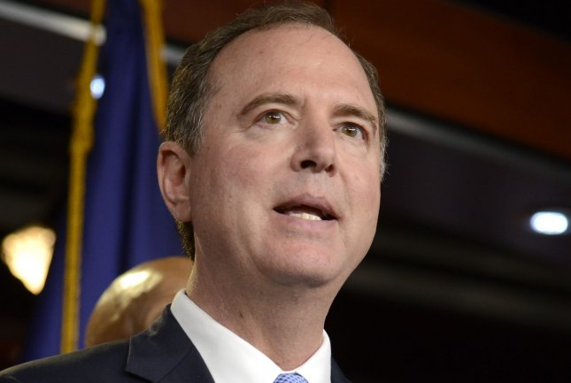 House intelligence committee Chairman Rep. Adam Schiff rebuked Senate Republicans for seeking a quick trial in the impeachment of President Donald Trump and urged for the chamber to call witnesses and obtain records. File Photo by Mike Theiler/UPI