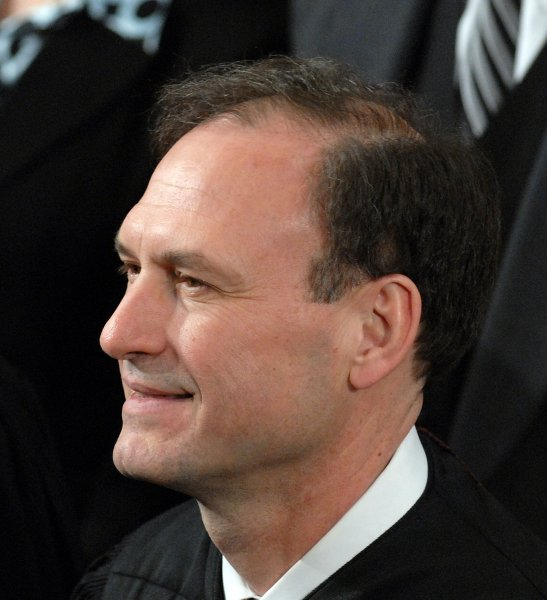 Supreme Court Justice Samuel Alito arrives to listen to U.S. President George W. Bush deliver his State of the Union address in the House of Representatives Chamber of the U.S. Capitol in Washington on January 23, 2007. (UPI Photo/Roger L. Wollenberg)