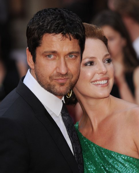 American actress Katherine Heigl and British actor Gerard Butler attend the premiere of The Ugly Truth at Vue, Leicester Square in London on August 4, 2009. UPI/Rune Hellestad