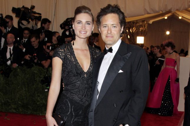 Lauren Bush Lauren and David Lauren arrive on the red carpet at the Costume Institute Benefit for the PUNK: Chaos to Couture exhibition at the Metropolitan Museum of Art in New York City in 2013. The couple welcomed a baby boy on Saturday. File Photo by John Angelillo/UPI