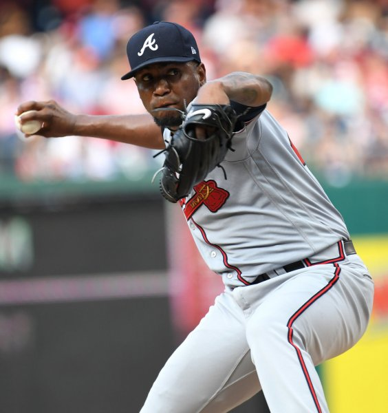 Julio Teheran and the Atlanta Braves held off the Colorado Rockies on Friday. Photo by Pat Benic/UPI