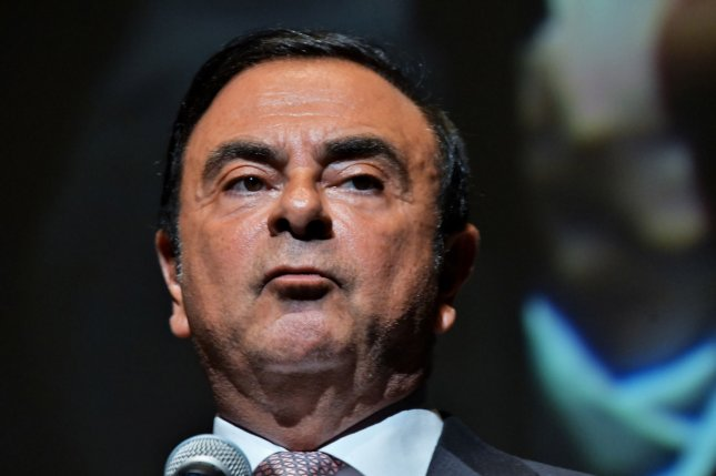 Former Nissan Chairman Carlos Ghosn has been confined in harsh circumstances since his arrest in April, says his wife, Carole Ghosn. File Photo by Keizo Mori/UPI