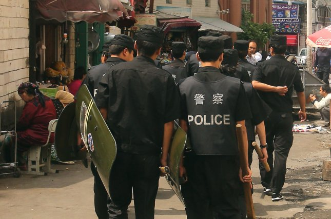 China has increased security in Xinjiang Province and has been deploying a counter-terrorism unit since at least 2018. File Photo by Stephen Shaver/UPI