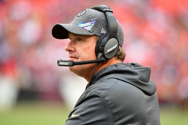 Jay Gruden posted a 35-49-1 record in six years with the Redskins. Photo by David Tulis/UPI