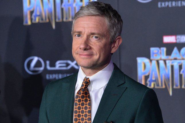 Martin Freeman co-created and stars on the FX comedy Breeders. File Photo by Jim Ruymen/UPI