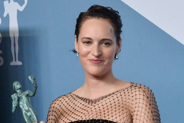 Fleabag creator Phoebe Waller-Bridge appears at the 26th annual SAG Awards on January 19. The stage version of the series is coming to Amazon. File Photo by Jim Ruymen/UPI.