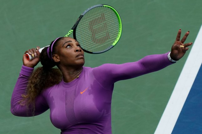 Serena Williams (pictured) will team up with supermodel Gigi Hadid in the Stay at Home Slam at 4 p.m. EDT Sunday on the Facebook Gaming and IMG Tennis Facebook pages. File Photo by Ray Stubblebine/UPI