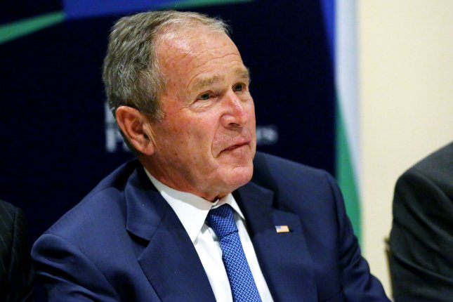 Former President George W. Bush condemned the death of George Floyd, but said, looting is not liberation, and destruction is not progress. File Photo by Monika Graff/UPI