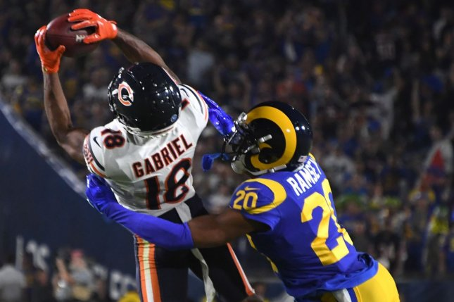 Los Angeles Rams cornerback Jalen Ramsey (20) is now the highest-paid defensive back in NFL history after he signed a contract extension Wednesday. File Photo by Jon SooHoo/UPI
