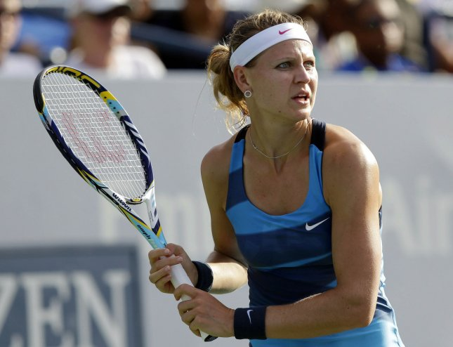 Lucie Safarova, shown at the 2012 U.S. Open, claimed a first-round win at the Qatar Total Open 2014 Tuesday, one day after helping the Czech Republic beat Spain in the Fed Cup. UPI/John Angelillo