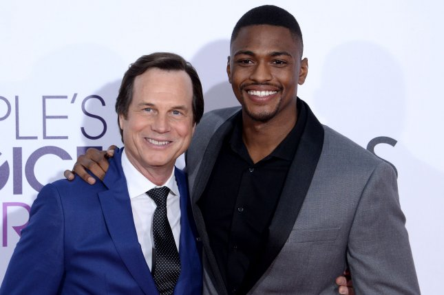 Bill Paxton (L) and Justin Cornwell attend the 43rd annual People's Choice Awards on January 18. Paxton was honored Sunday following his death by storm chasers around the globe. File Photo by Jim Ruymen/UPI