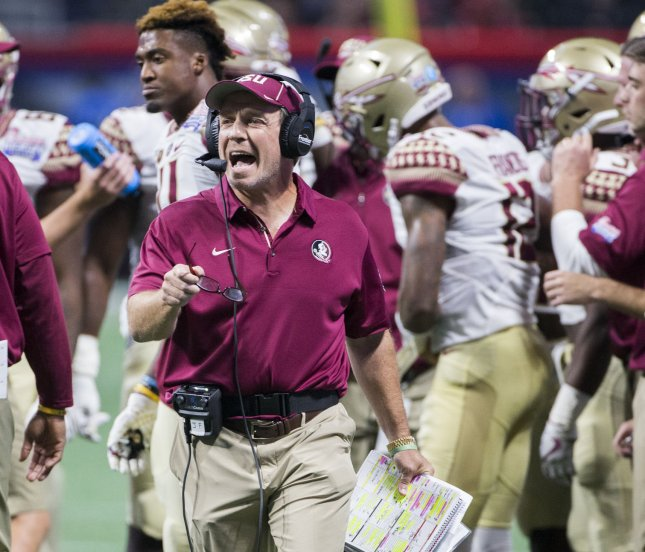 Florida State head coach Jimbo Fisher is set to take the reigns at Texas A&M. Photo by Mark Wallheiser/UPI