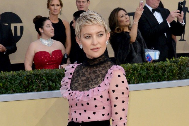 Kate Hudson arrives for the the 24th annual SAG Awards held at the Shrine Auditorium in Los Angeles on January 21. The actor turns 39 on April 19. File Photo by Jim Ruymen/UPI