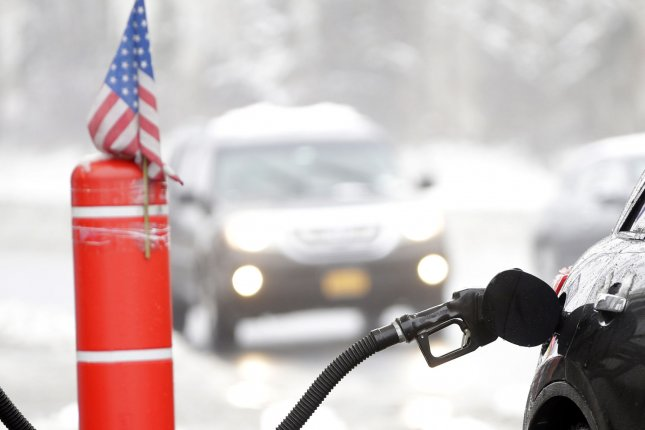Average fuel prices in the United States fell in the first week of 2019 for a 12th consecutive week amid a large build-up of inventories. Photo by John Angelillo/UPI