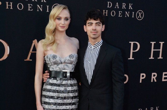 Sophie Turner (L) and Joe Jonas attend the Los Angeles premiere of Dark Phoenix on Tuesday. File Photo by Jim Ruymen/UPI