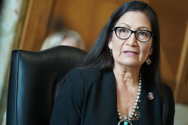 Rep. Debra Haaland's nomination to be interior secretary will move to the full Senate for a vote. Photo by Leigh Vogel/UPI