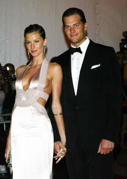 Gisele Bundchen and Tom Brady arrive at the Metropolitan Museum of Art's Costume Institute Gala in New York on May 5, 2008. (UPI Photo/Laura Cavanaugh)