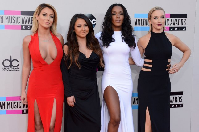 Aubrey O'Day, Andrea Fimbres, Dawn Richards, and Shannon Bex of music group Danity Kane. UPI/Phil McCarten