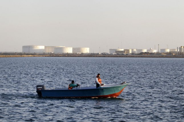 Rokneddin Javadi, the managing director of the National Iranian Oil Co. says low price for oil no obstacle for an increase in crude oil exports. Pictured, oil tanks on the shore of the Sea of Oman in Chabahar, Iran, on January 17, 2012. File photo by Maryam Rahmanian/UPI