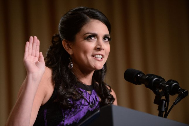 Saturday Night Live comedian Cecily Strong speaks at the annual White House Correspondent's Association Gala on April 25, 2015. Pool Photo by Olivier Douliery/UPI