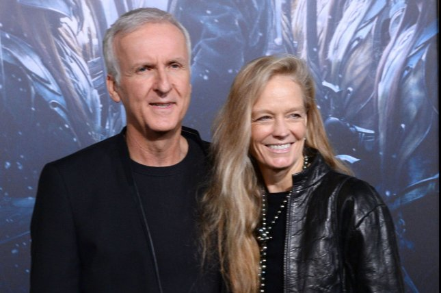 James Cameron and Suzy Amis attend the premiere of The Hobbit: The Battle of Five Armies on December 9, 2014. Cameron is working with video game publisher Ubisoft to create a new 'Avatar' video game. File Photo by Jim Ruymen/UPI