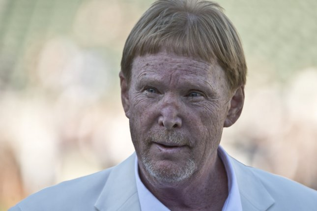Oakland Raiders owner Mark Davis walks on the field prior to the Raiders playing the St. Louis Rams in a pre-season game at O.co Coliseum in Oakland, California on August 14, 2015. Photo by Terry Schmitt/UPI