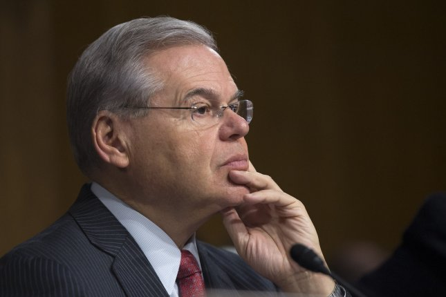 Democratic Sen. Robert Menendez, D-N.J., faces 14 felony counts of illegally accepting gifts and political contributions from a Florida eye doctor. File Photo by Kevin Dietsch/UPI