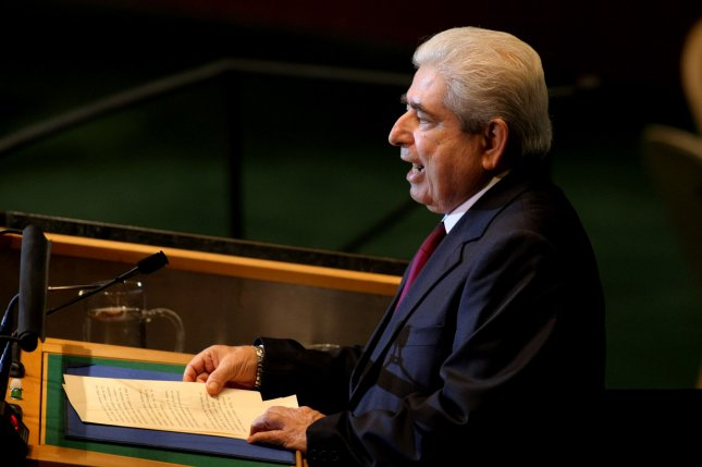 Cyprus President Demetris Christofias addresses the 66th session of the United Nations General Assembly at the United Nations on September 22, 2011, in New York City. File Photo by Monika Graff/UPI