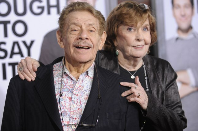 The late Jerry Stiller (L) and his late wife Anne Meara attending the premiere of I Love You Manon March 2009. TBS has announced a Seinfeld marathon featuring episodes starring Stiller. File Photo by Phil McCarten/UPI