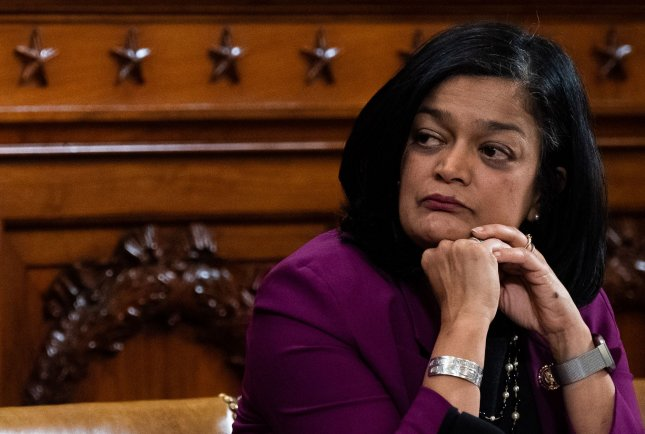 Rep. Pramila Jayapal said Monday that she has tested positive for the coronavirus. Photo by Kevin Dietsch/UPI