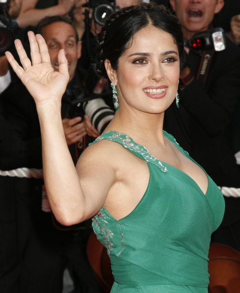 Actress Salma Hayek at the 61st Annual Cannes Film Festival in Cannes, France on May 18, 2008. (UPI Photo/David Silpa)