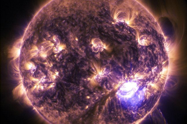 A new study claims a series of migrating solar bands in the sun's interior dictate seasonal variations in the star's electromagnetic activity. File photo by NASA/UPI