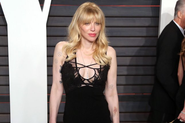 Courtney Love attends the 2016 Vanity Fair Oscar party in Beverly Hills on February 28, 2016. She is to begin work soon on the movie The Possibility of Fireflies. File Photo by David Silpa/UPI