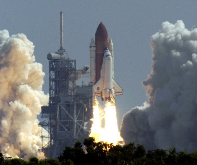 The Space Shuttle Discovery lifts off for a mission to the International Space Station at Kennedy Space Center in Cape Canaveral, Fla., on July 26, 2005. This first shuttle mission since the Columbia disaster was originally scheduled for launch in May, but technical glitches delayed the return to human space flight. File Photo by Marino-Cantrell/UPI