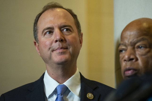 Rep. Adam Schiff, D-Calif., said two House committees issued multiple subpoenas to financial institutions, including a friendly subpoena to Deutsche Bank, which has a long history of financial dealings with President Donald Trump. Photo by Alex Edelman/UPI