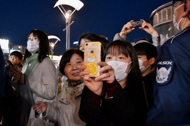 The new technology would keep track of who users have been in contact with via Bluetooth technology on cellphones. If a user reports on public health apps that they've tested positive for COVID-19, the platform would alert other users they've been near. Photo by Keizo Mori/UPI
