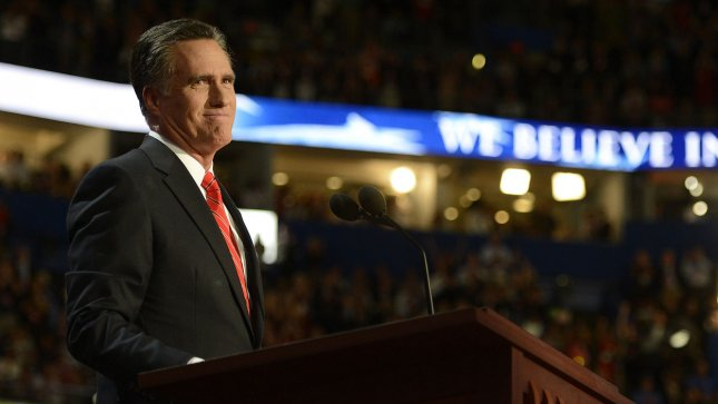Republican presidential candidate Mitt Romney. UPI/Mike Theiler