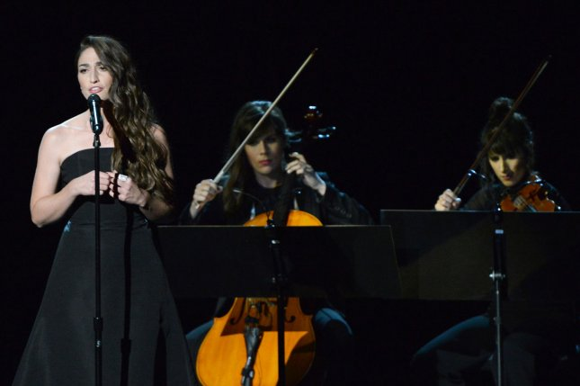 Sara Bareilles performs during an In Memoriam tribute during the Primetime Emmy Awards at the Nokia Theatre in Los Angeles on August 25, 2014. UPI/Pat Benic