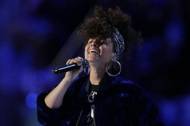 Alicia Keys performs during day two of the Democratic National Convention at Wells Fargo Center in Philadelphia, Pa. on July 26, 2016. Photo by Ray Stubblebine/UPI