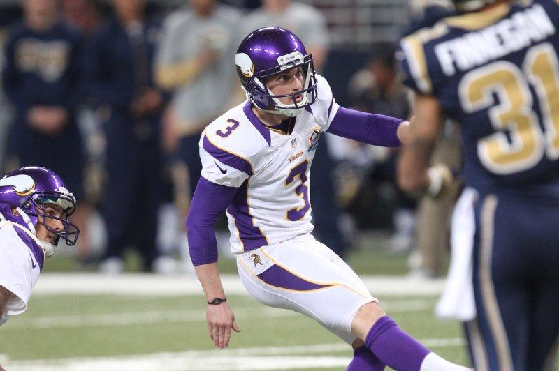 premium selection 46b6d 3cd85 Minnesota Vikings release All-Pro kicker Blair Walsh - UPI.com