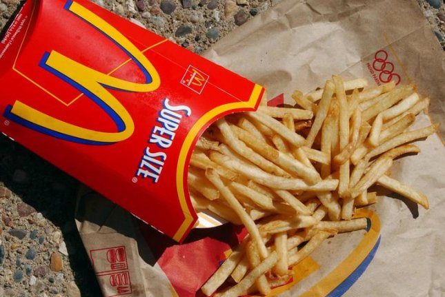 Researchers found that people who dine out, including at fast food restaurants, had higher levels of toxic chemicals called phthalates than those who ate home-cooked meals. File Photo by Bill Greenblatt/UPI