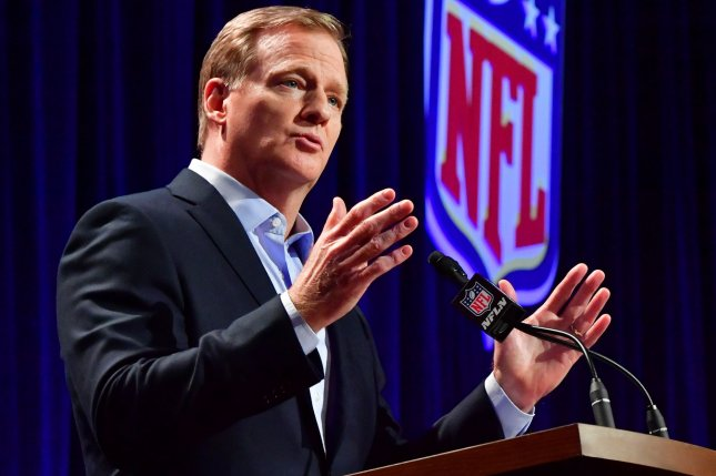 NFL commissioner Roger Goodell has said the league will consider streaming services obtaining future broadcast rights. Photo by Kevin Dietsch/UPI