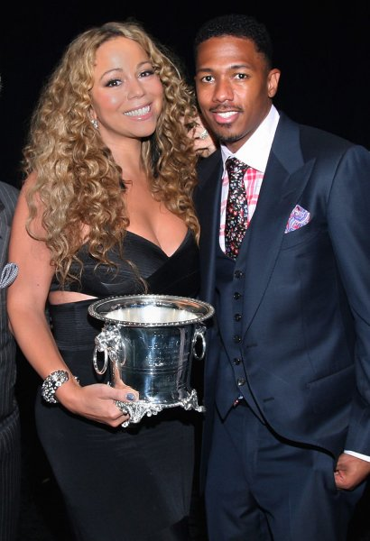 Mariah Carey attends the BMI Urban Music Awards with her husband Nick Cannon, where she was honored as an icon in Beverly Hills, California on September 7, 2012. UPI/Arnold Turner