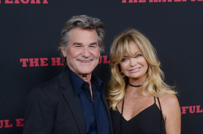 Kurt Russell and Goldie Hawn attend the premiere of The Hateful Eight at the ArcLight Cinerama Dome in the Hollywood section of Los Angeles on December 7, 2015. Photo by Jim Ruymen/UPI