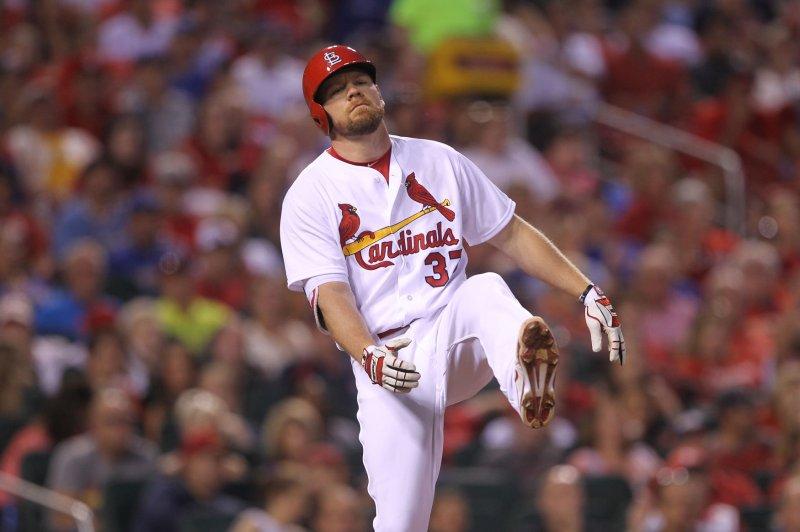 St. Louis Cardinals' Brandon Moss. Photo by Bill Greenblatt/UPI