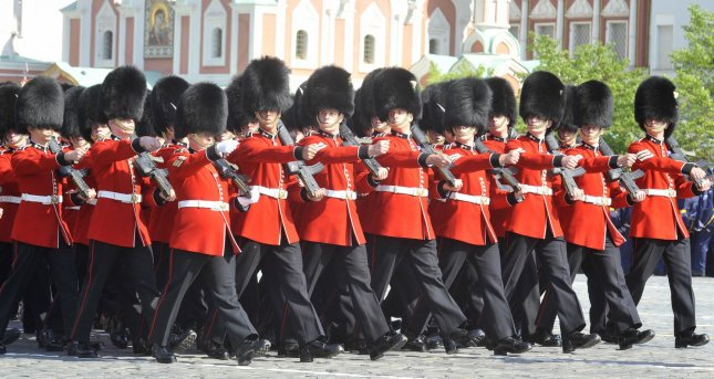 British soldiers march during the Victory Day military parade marking the 65th anniversary of victory over Nazi Germany on Red Square in Moscow May 9, 2010. UPI