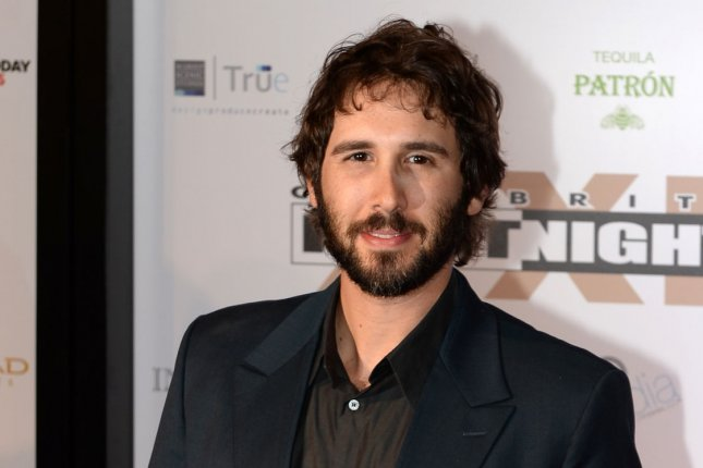 Josh Groban is to make his Broadway debut in September. He is seen here at the Muhammad Ali Celebrity Fight Night in Phoenix on March 28, 2015. Photo by Art Foxall/UPI