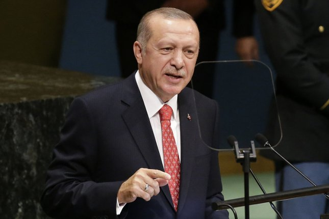 President of Turkey Mr. Recep Tayyip Erdogan, pictured speaking at the United Nations General Assembly in New York City in 2018, on Friday confirmed that his country has tested its S-400 air defense system acquired last year from Russia. Photo by John Angelillo/UPI